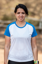 Roundneck Tshirt | Womens | Comfort-fit | Easy | White-Blue