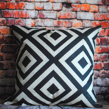 Soft Scandinavian print cushion cover