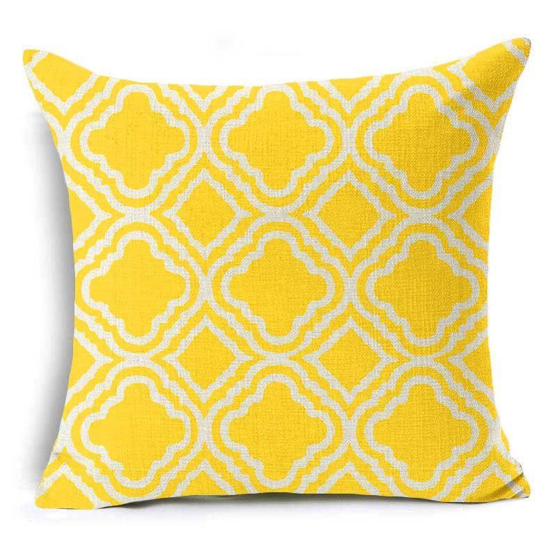 Sunrise Yellow Scandinavian Print Cushion Cover