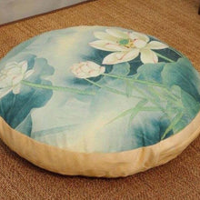 Large linen Japanese print meditation cushion