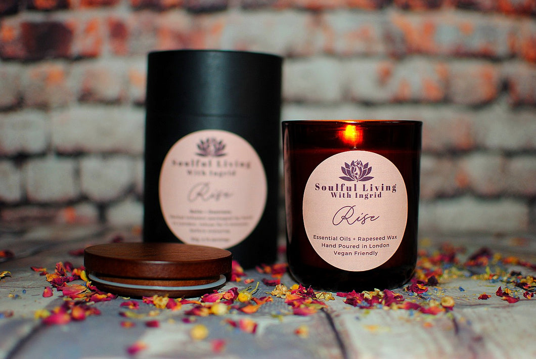 RISE: Essential Oils and Rapeseed Wax Candle to Uplift and Energise
