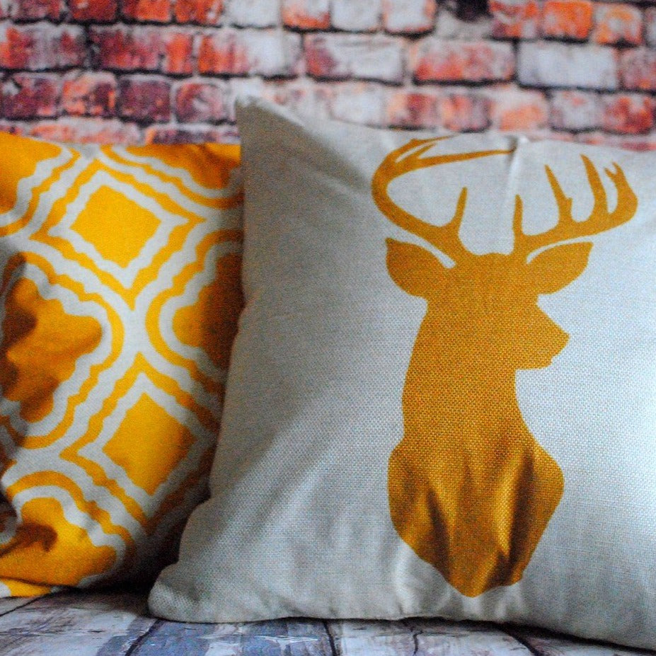 Geometric print cushion cover set