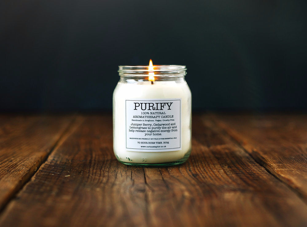 Soy Aromotherapy Candle  - Purify