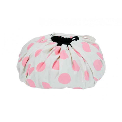 Toy Mat Storage Bag - Pink Dot