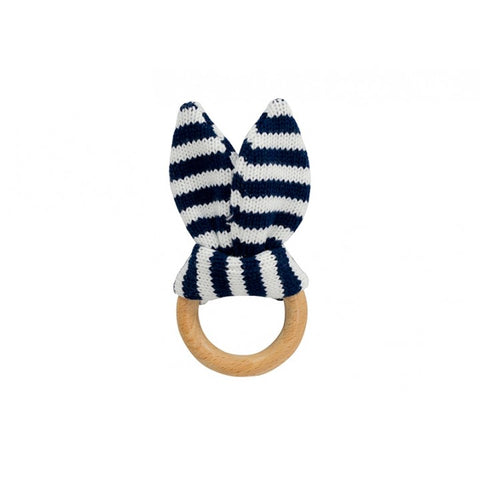 Teether Bunny Ears - Navy Stripe