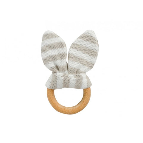 Teether Bunny Ears - Natural Stripe