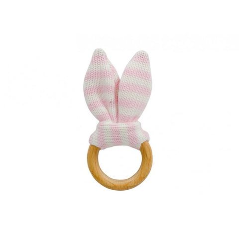 Teether Bunny Ears - Pink Stripe