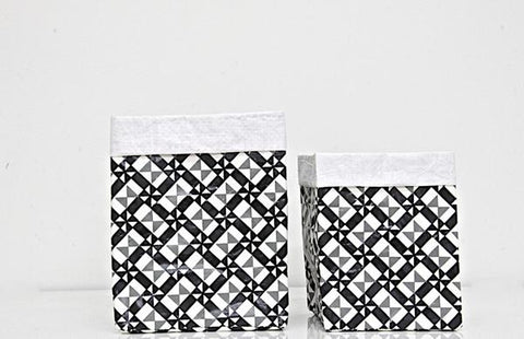 Plant Bag - Black and White Set of Two