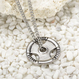 Barbell Plate Necklace -Phil 4:13 - Gym Rat World