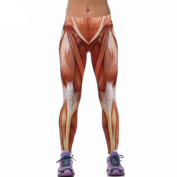 Muscle Leggings Print - Gym Rat World