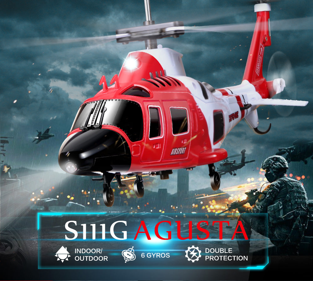 For SYMA Military Ruggedness Remote Control Combat Aircraft Helicopter  S111G 3 5 Channel RC Helicopter with Gyro #45