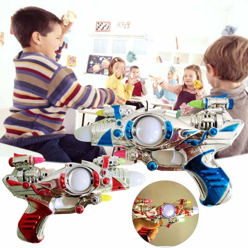 Kids Children Flashing Lights Up Space Pistol with Firing Sound Effect Toys