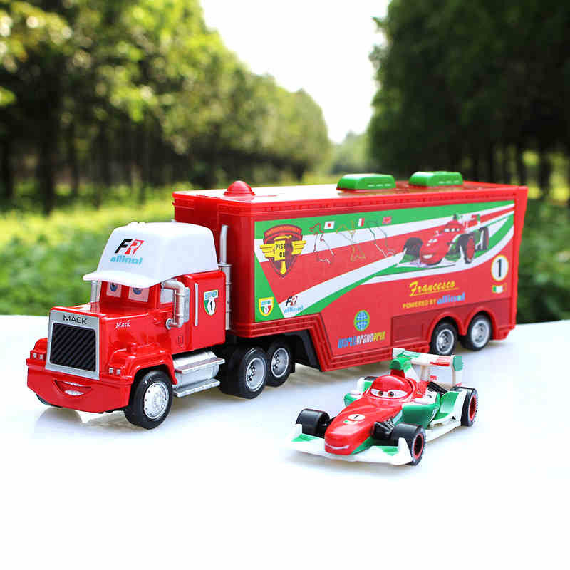 Free shipping 2pcs/set Cars Pixar CHICK HICK #86 & MACK Superliner Truck  Diecast Toys Vehicles for Children Kids Toys