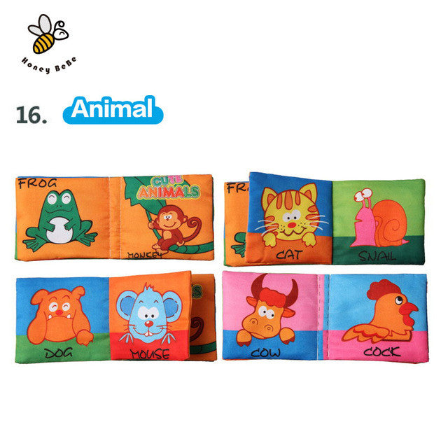 Toys & Hobbies Baby Rattles & Mobiles Baby Toys 0-12 Months Intelligence Development Cloth Book Soft Rattles Unfolding Activity Books Cute Animals Kids Toys Beautiful In Colour