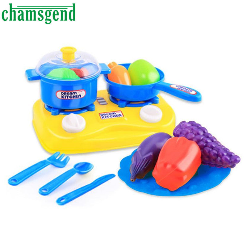 15pcs Plastic Kids Children Kitchen Utensils Food Cooking Pretend Play Set  Toy Gift Levert Dropship Oct 25