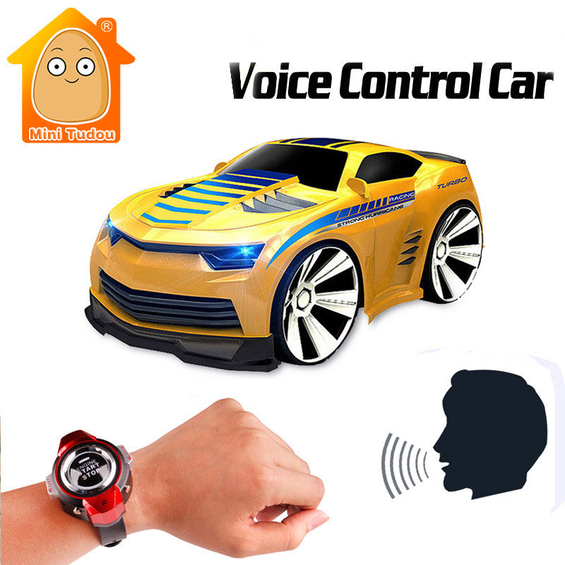 172e390d998 MiniTudou 4Channels RC Car With Smart Watch Voice Control Mini Remote  Control Cars On The Radio RC Toys For Children