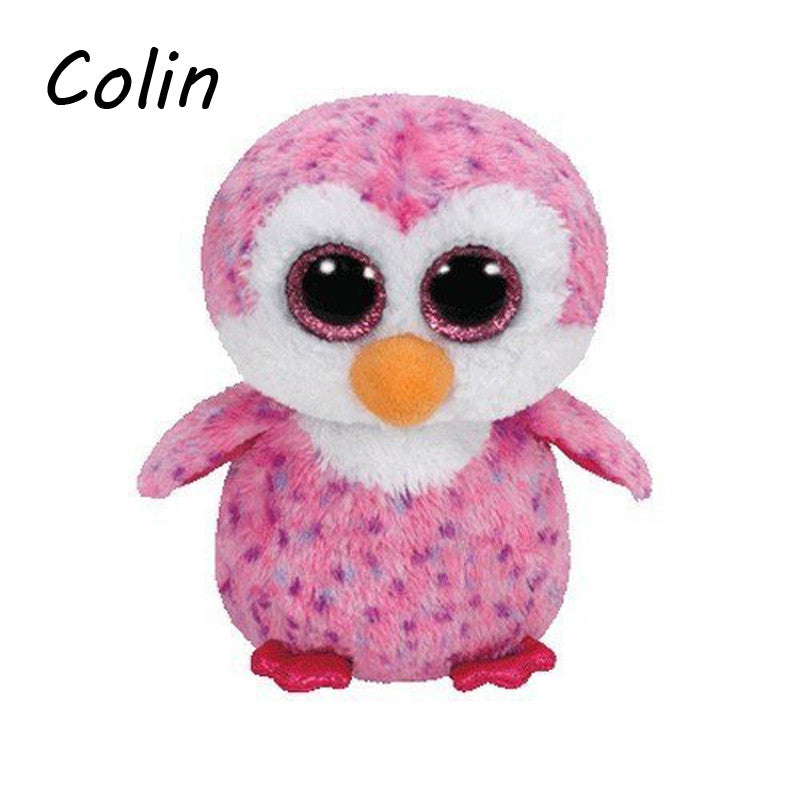 de03f0b7d67 Ty Beanie Boos Original Big Eyes Plush Toy Kawaii Doll Child Birthday  Purple Penguin Stuffed Animals Baby 15cm WJ159