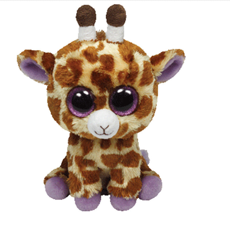 282496e1ce2 In Stock Original Ty Beanie Boos Big Eyed Stuffed Animal SAFARI - giraffe Plush  Doll Kids Toy 6   Birthday Gift