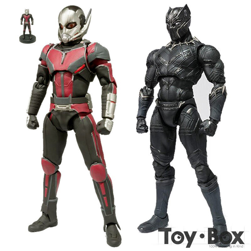 SHF Captain America Civil War Ant Man Black Panther Cartoon Toy Action  Figure Model Doll Gift 02a720f54aa3