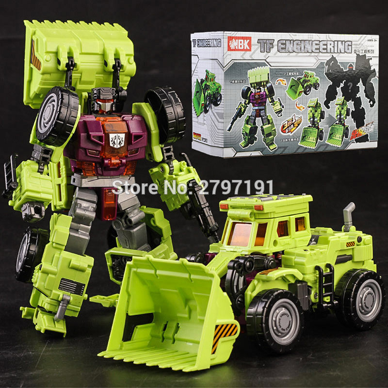 NBK Devastator Scrapper Transformation TF KO GT Scraper Engineering Vehicle  Model Action Figure Robot Boy Toy
