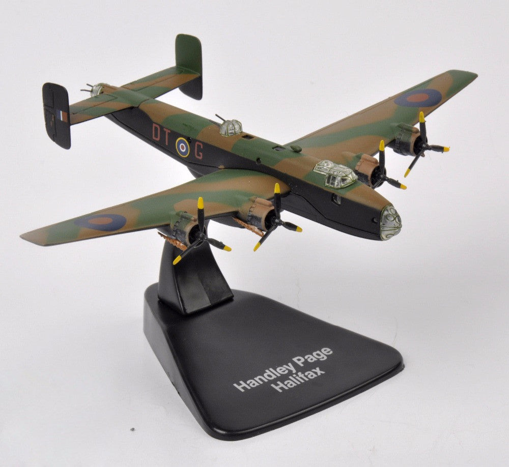 1/144 Scale Diecast Military Army Fighter Airplanes Model Toys New WWII  Handley Page Halifax Aircraft Kids Model Toys Collec