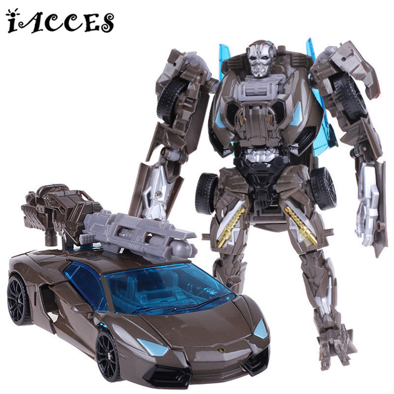 Cool Plastic Abs Alloy Transformation Robot Car Toys Anime