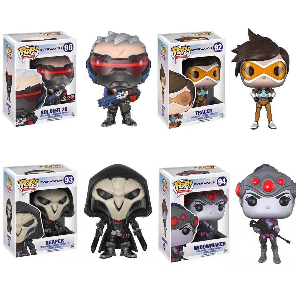 Funko POP Action Figure Toys TRACER & PHARAH & WIDOWMAKER & REAPER &  SOLDIER 76 & WINSTON