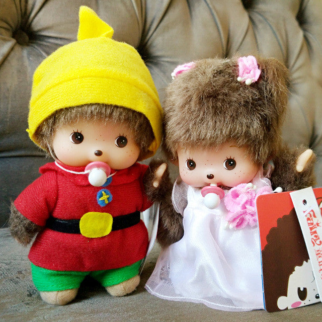 Free Shipping Cute Monkiki monkey 15cm/20cm couple dolls monchichi dolls 2pcs per lot sales gift for children & Products Page 157 - Supply Micro