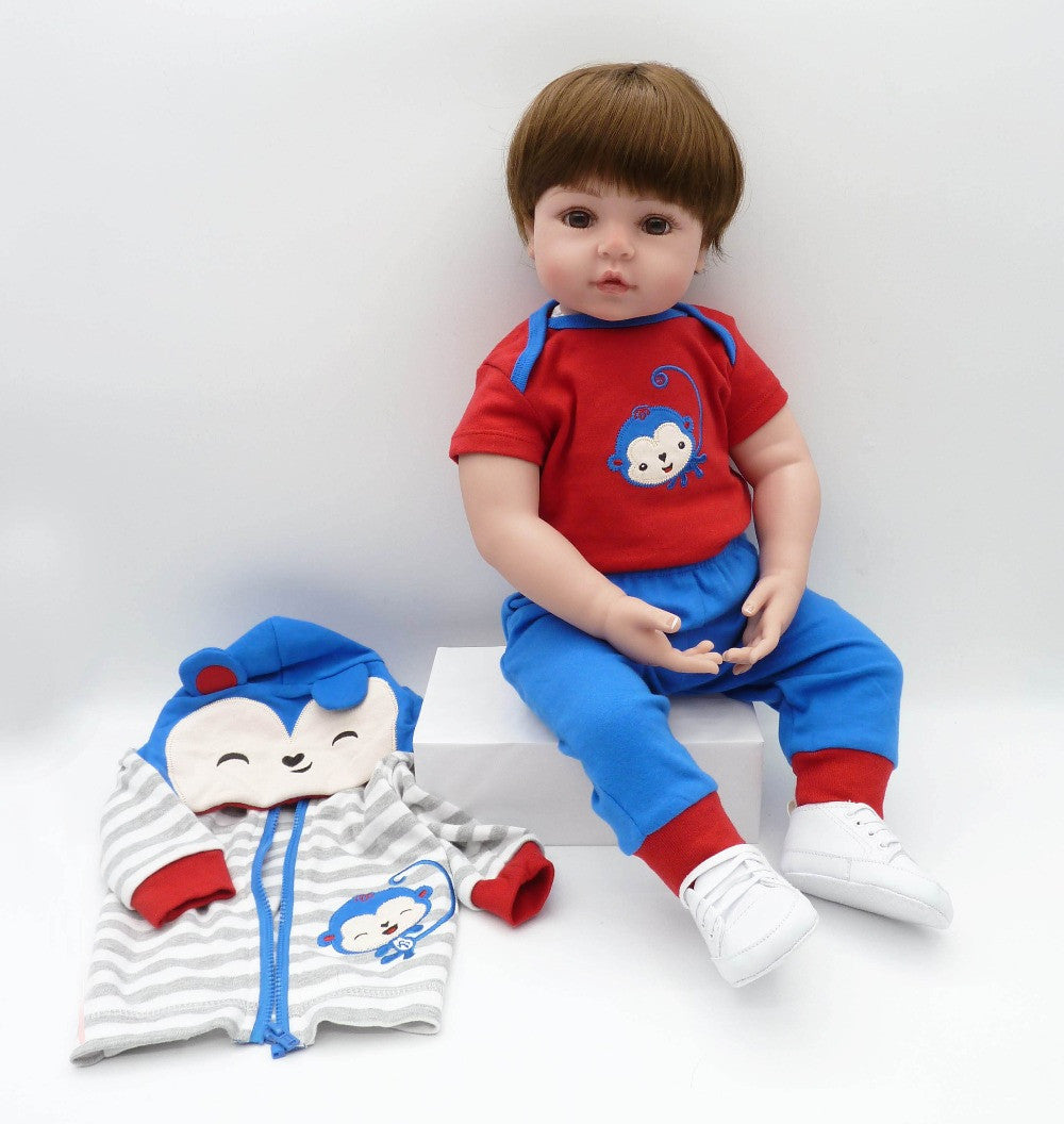 51867e96822fa 55cm Silicone Reborn Baby Boy Doll Toys For Kid Child Lovely Vinyl Babies  Dolls Fashion Birthday Present Gift Girls Brinquedos