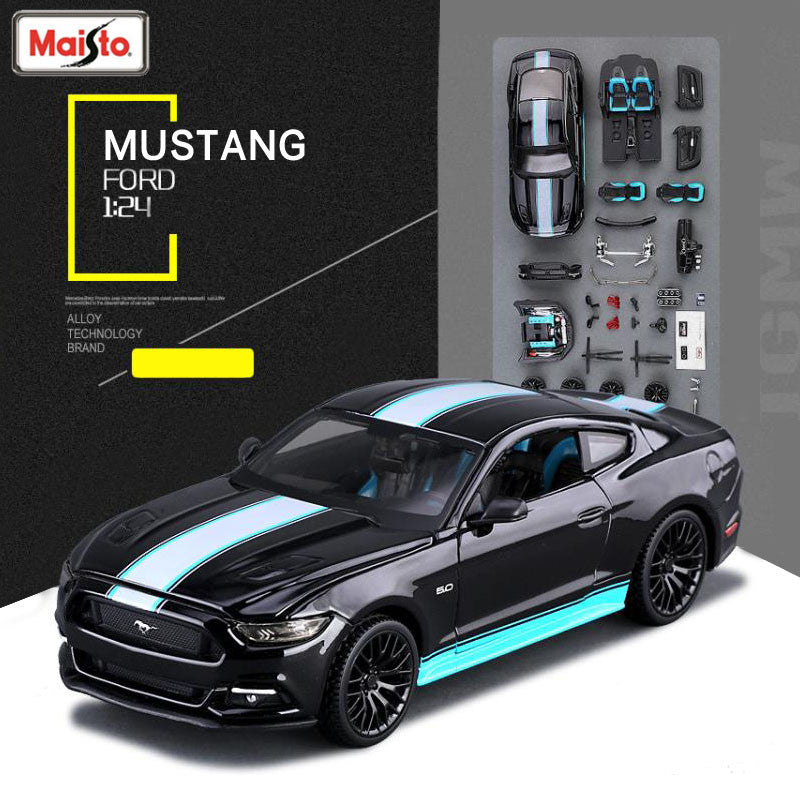 Maisto Ford Mustang Gt  Scale Assembly Car Metal Model Kitcasts Toy Vehicles High Quality Collection Boy Toys Gift