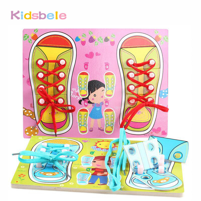 Puzzle Shoes Lacing Montessori Educational Toys Children 3-4-5 Years Old Boys And Girls Special Toys Toys & Hobbies