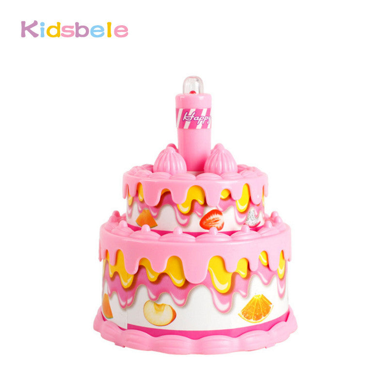 Baby Toys Mini Birthday Cake Pretend Play Toys Flash Song Simulation