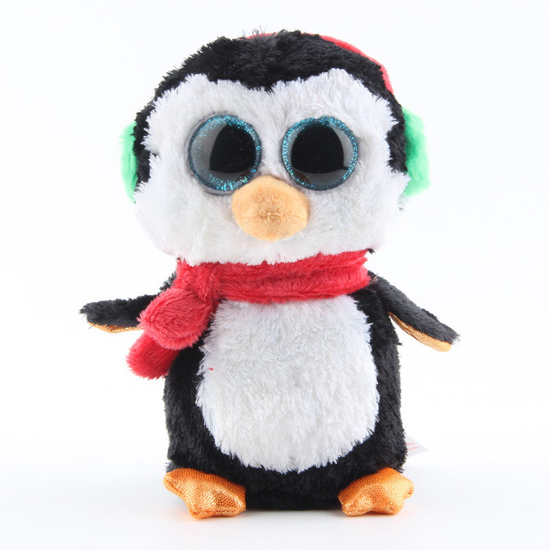 9101181167f Ty Beanie Boos Original Big Eyes Plush Toy Kawaii Doll Black Penguin with  Scraf Stuffed Animals