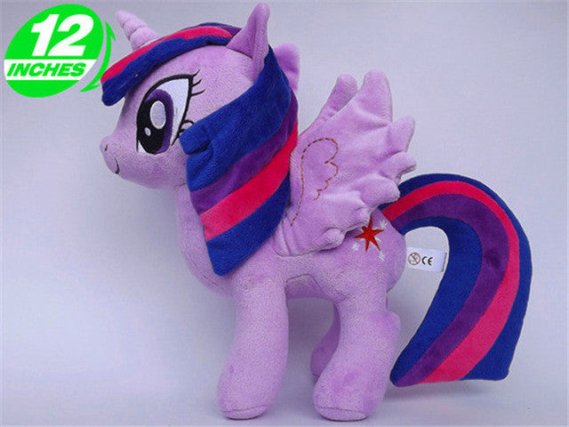 30cm Princess Celestia Princess Luna Twilight Sparkle Cartoon Pets Plush  Rainbow Horse Unicorn Toys Stuffed Animal Doll 472ae47bb2d3
