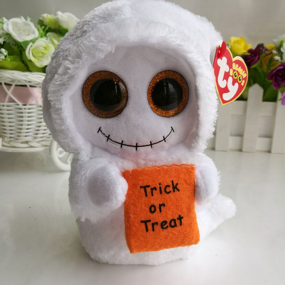 Mist white ghost halloween gift TY BEANIE BOOS 1PC 15CM BIG CRYSTAL EYES  Plush Toys Stuffed fbe5ae6392ee