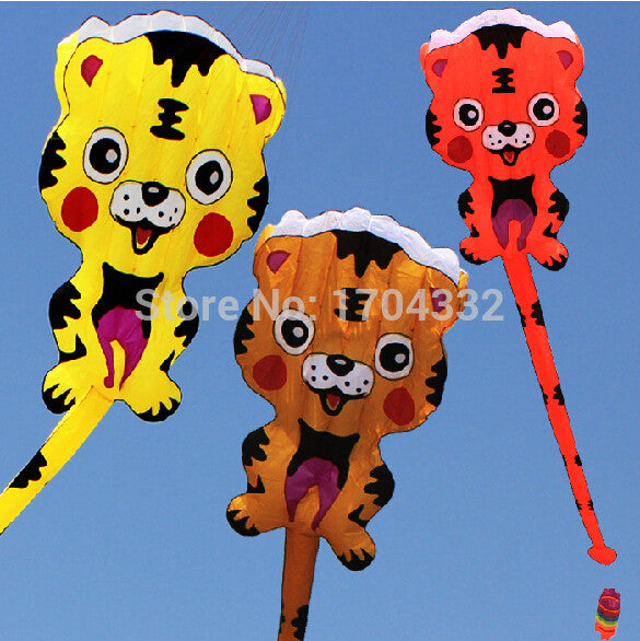 Free Shipping Outdoor Fun Sports NEW Nylon Cloth Power Carton Tiger  Software Kite Good Flying