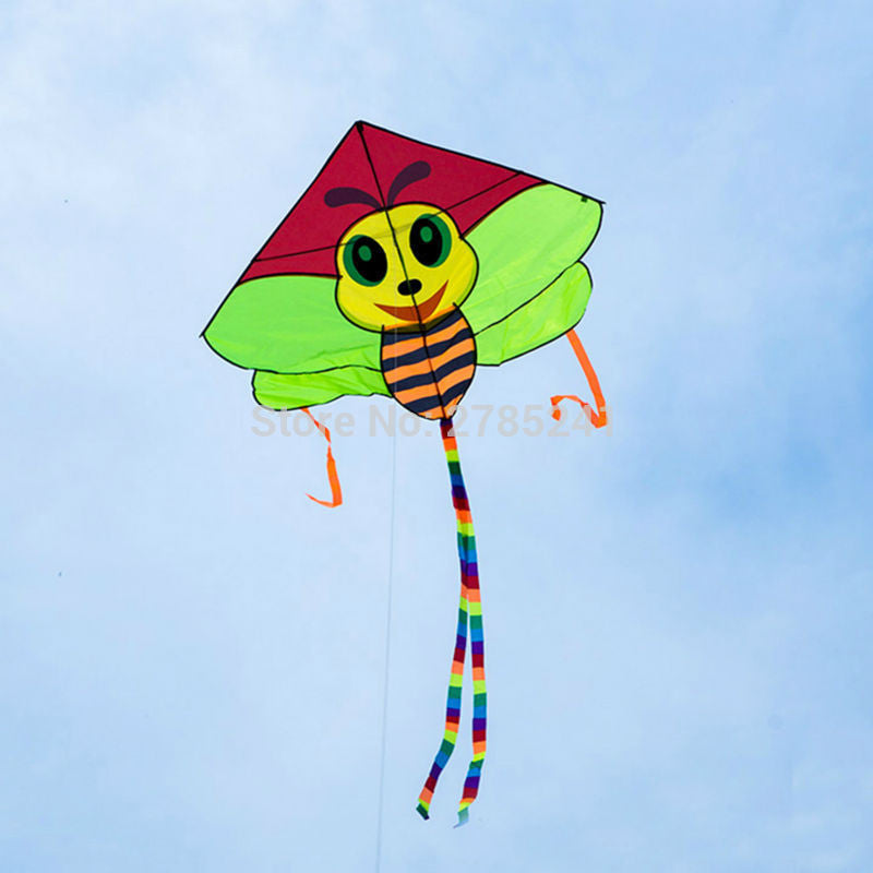51 Inch Cute Bee Kite Single Line Easy To Fly Outdoor Games Sports