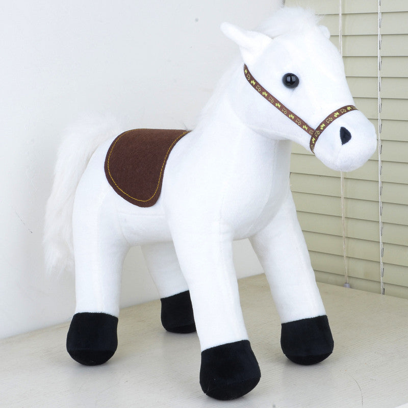 35cm White Dragon Horse Plush Toy Journey To The West Baby Toy