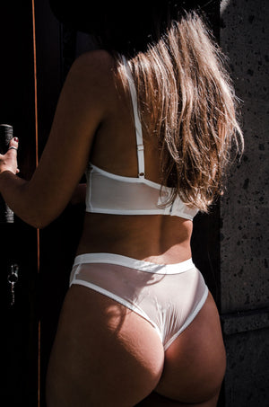 LIV WHITE MESH CHEEKY