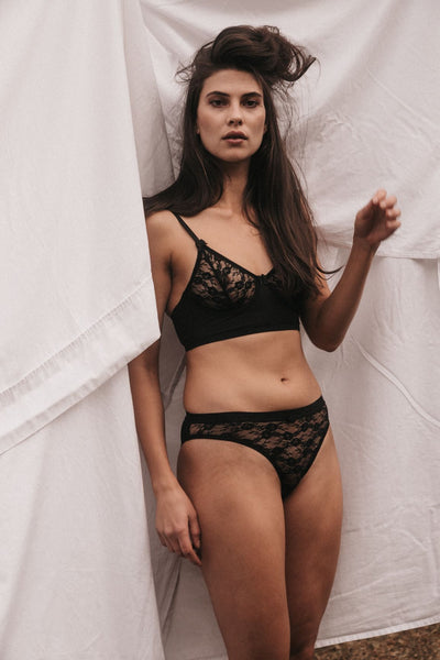 NATALIA BLACK LACE BIKINI BRIEF