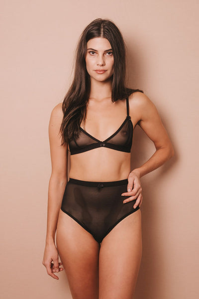 EVA BLACK MESH HIGH WAIST