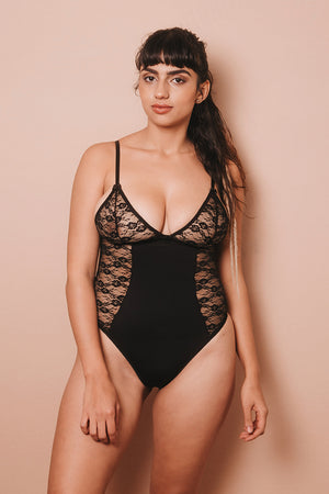 IMPERFECT ELENA BLACK BODYSUIT