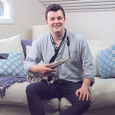 Saxophone instructor from video lessons