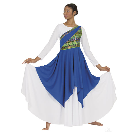 Eurotard Adult Joyful Praise Asymmetrical Tunic- 63567
