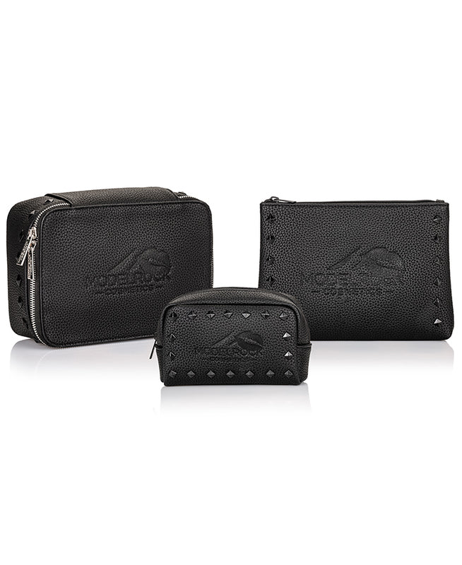 Modelrock Vegan Faux Leather Makeup Bag - PRO SET all 3 bags - CULT COSMETICA