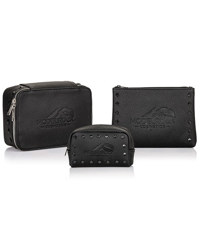 MODELROCK VEGAN Faux Leather Makeup Bag - PRO SET all 3 bags