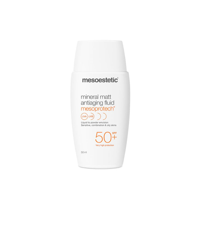 Mesoestetic Mesoprotech Mineral Matt Anti-Aging Fluid SPF 50+ - CULT COSMETICA