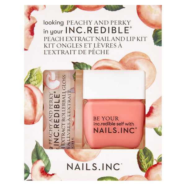 Nails Inc - Looking Peachy and Perky Lip and Nail DUO