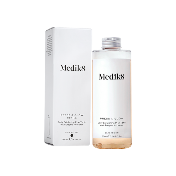 Medik8 PRESS & GLOW™ Exfoliating PHA Tonic with Enzyme Activator Refill