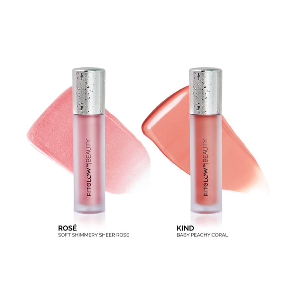 Fitglow Lip Colour Serum Duo Kind & Rose - CULT COSMETICA